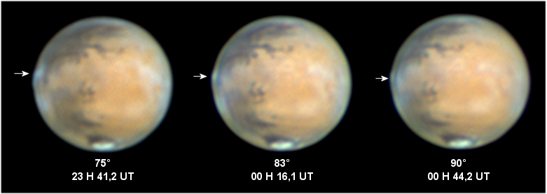 Observation de nuages géants sur Mars. MarsHAC2014