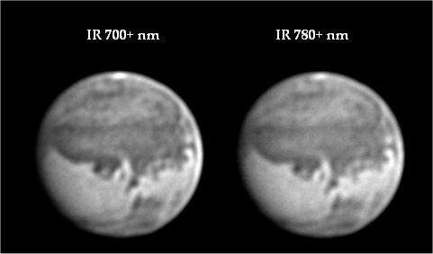 What IR filter is best to image planets?