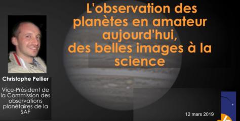 Vidéo : conférence sur l'astronomie planétaire à la SAB